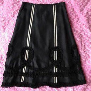 Anthropologie Odille silk skirt